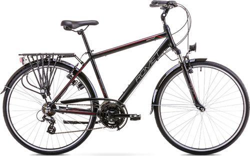 """Romet Rower Romet Wagant L (21"""") Czarno- czerwony  uniwersalny"""