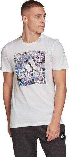Adidas Koszulka męska Doodle BOS biała r. M (FN1752)