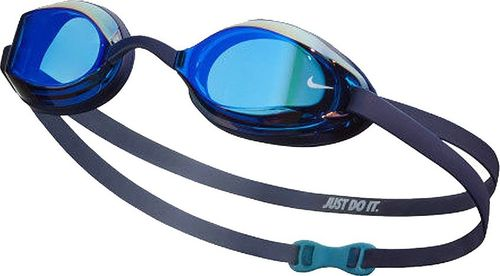 Nike Okulary pływackie Nike LEGACY MIRRORED NESSA178 440 NESSA178 440-S granatowy senior