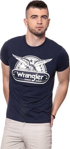 Wrangler WRANGLER SS EAGLE TEE NAVY W7B74FK35 S