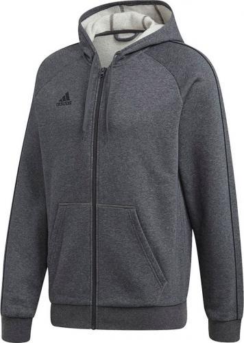 Adidas Bluza męska Core 18 Fz Hoody szara r. XL (FT8070)