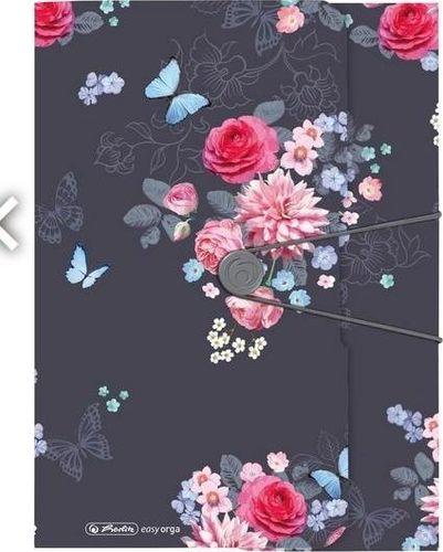 Herlitz Teczka rysunkowa A4 z gumką Ladylike Flowers