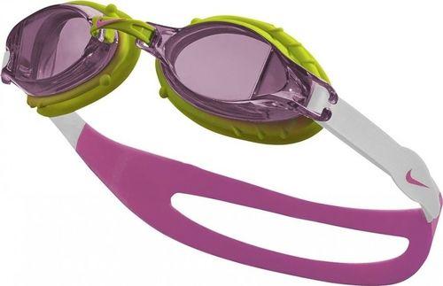 Nike Okularki do pływania NIKE CHROME YOUTH dziecięce Okulary różowe uniwersalny