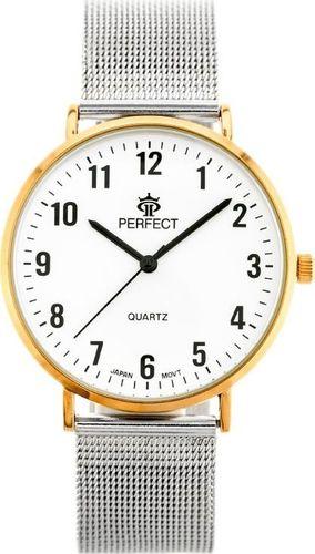 Zegarek Perfect ZEGAREK DAMSKI PERFECT B7304 antyalergiczny (zp852f) silver/r.gold uniwersalny