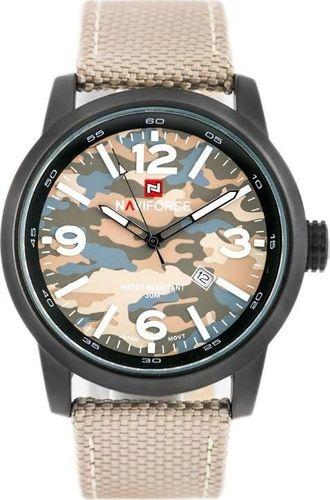 Zegarek Naviforce ZEGAREK MĘSKI NAVIFORCE - COMMANDO (zn034a) - beige uniwersalny