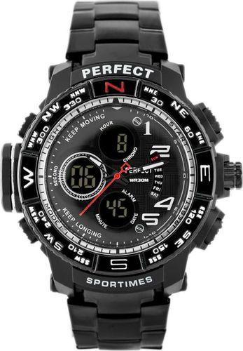 Zegarek Perfect ZEGAREK MĘSKI PERFECT - A896 (zp260b) - black uniwersalny