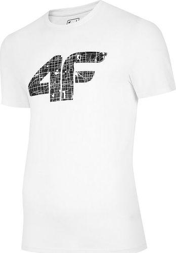 4f Koszulka męska H4L20-TSM012 biała r. L