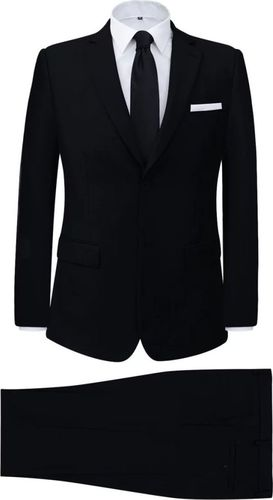 vidaXL 2-częściowy garnitur biznesowy męski czarny rozmiar 48