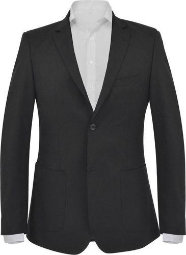 vidaXL Marynarka biznesowa męska, rozmiar 48, czarna