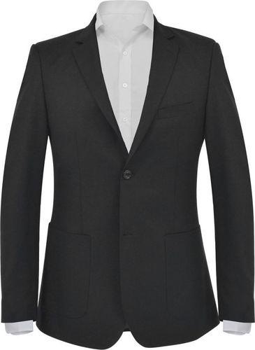 vidaXL Marynarka biznesowa męska, rozmiar 56, czarna