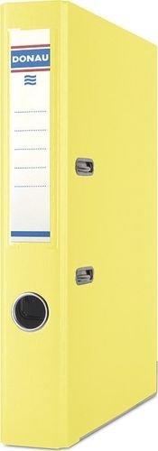 Segregator Donau Premium dźwigniowy A4 50mm żółty (3955001PL-11)