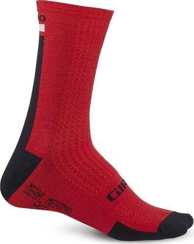 GIRO Skarpety GIRO HRC + MERINO WOOL dark red black grey roz. XL (46-48) (NEW)
