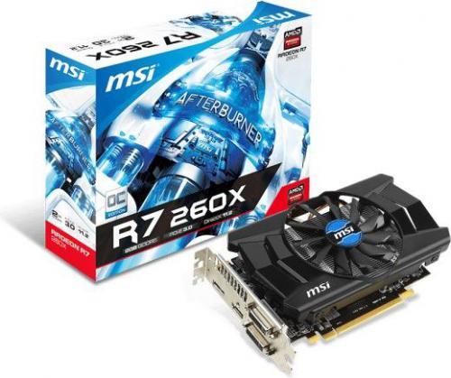 Karta graficzna MSI RADEON R7 260X 2GB GDDR5 (128 Bit), HDMI, DVI-D, DVI-I, DP, BOX (R7 260X 2GD5 OCV1)