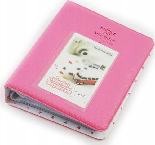 LoveInstant Album na 64 Zdjęcia do Fujifilm INSTAX MINI 7 8 9 11 - Różowy