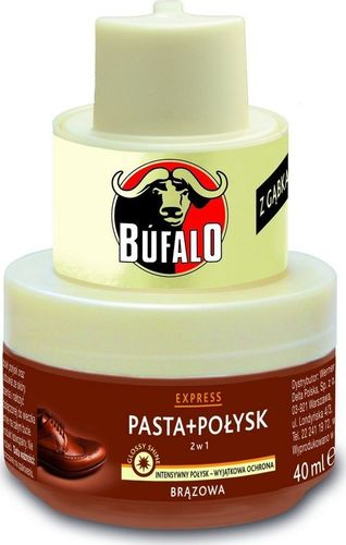 Frosch Bufalo 2w1 Pasta + Połysk Do Butów Brązowa 40ml Bufalo 2w1