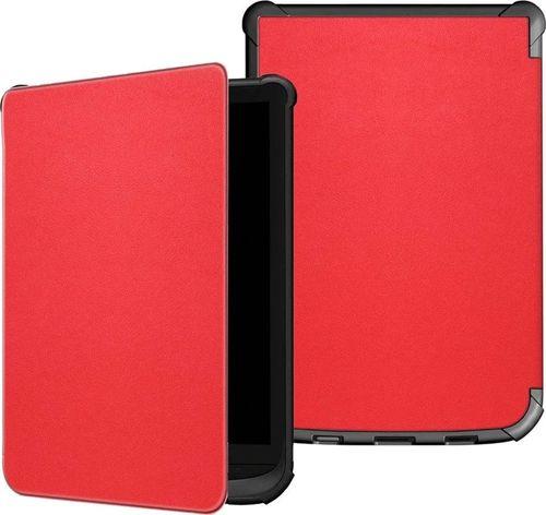 Pokrowiec Etui Smart Cover PocketBook Lux 4 627/616 - Red uniwersalny