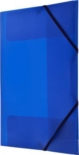 Tetis Teczka PP z gumka narożną A4 niebieska
