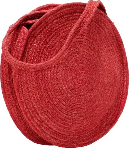 vidaXL Okrągła torebka na ramię, rdzawa, ręcznie robiona, jutowa