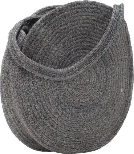 vidaXL Okrągła torebka na ramię, ciemnoszara, ręcznie robiona, jutowa