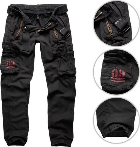 Surplus Surplus Spodnie Bojówki Royal Traveler Slimmy Czarne XL