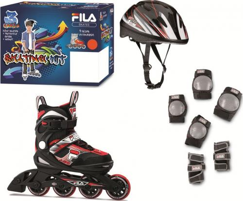 FILA Rolki J-One Combo 3 black/red r. 36-40