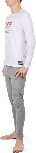 NASA Piżama Nasa Pyjama Big-Worm White/Grey NASA-PAJAMAS8 L