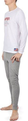 NASA Piżama Nasa Pyjama Big-Worm White/Grey NASA-PAJAMAS8 XXL
