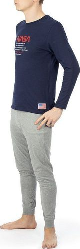 NASA Piżama Nasa Pyjama Big-Worm Navy/Grey NASA-PAJAMAS7 L