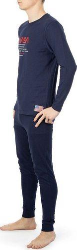 NASA Piżama Nasa Pyjama Big-Worm Navy/Navy NASA-PAJAMAS6 L