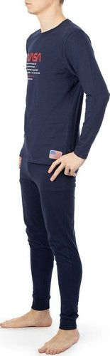 NASA Piżama Nasa Pyjama Big-Worm Navy/Navy NASA-PAJAMAS6 XXL