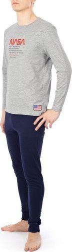 NASA Piżama Nasa Pyjama Big-Worm Grey/Navy NASA-PAJAMAS4 L