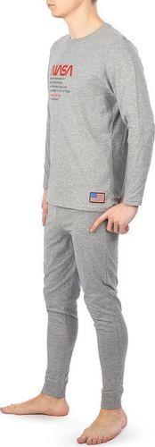 NASA Piżama Nasa Pyjama Big-Worm Grey/Grey NASA-PAJAMAS5 S