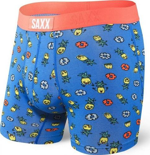 SAXX Bokserki męskie Vibe Boxer Brief Blue Pinapple Bash r. XL