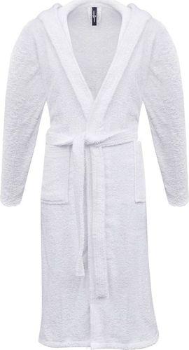 vidaXL 500 g/m Szlafrok unisex bawełna 100% kolor Biały rozmiar XL