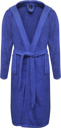 vidaXL 500 g/m Szlafrok unisex bawełna 100% kolor Niebieski rozmiar M