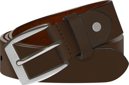 vidaXL Męski pasek biznesowy, skórzany, brązowy, 95 cm