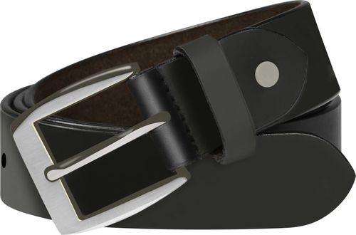 vidaXL Męski pasek biznesowy, skórzany, czarny, 105 cm