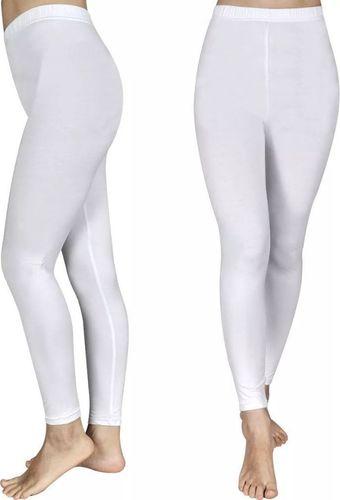 vidaXL Białe Legginsy dla dziewczynki 110/116 x2