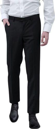 vidaXL Spodnie od garnituru męskie czarne rozmiar 46