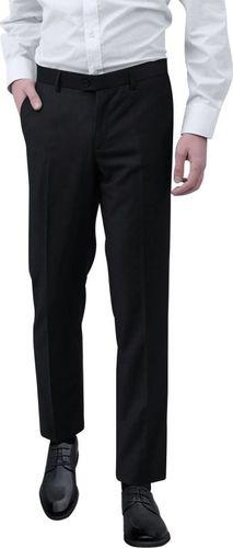 vidaXL Spodnie od garnituru męskie czarne rozmiar 50