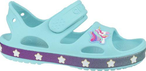 Crocs Sandały dziecięce Fun Lab Unicorn Charm Sandal niebieskie r. 19/20 (206366-4O9)
