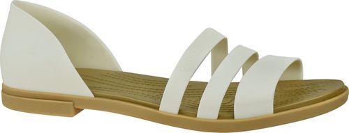 Crocs Sandały damskie Tulum Open Flat W białe r. 39/40 (206109-1CQ)