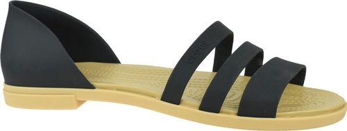 Crocs Sandały damskie Tulum Open Flat W czarne r. 37/38 (206109-00W)