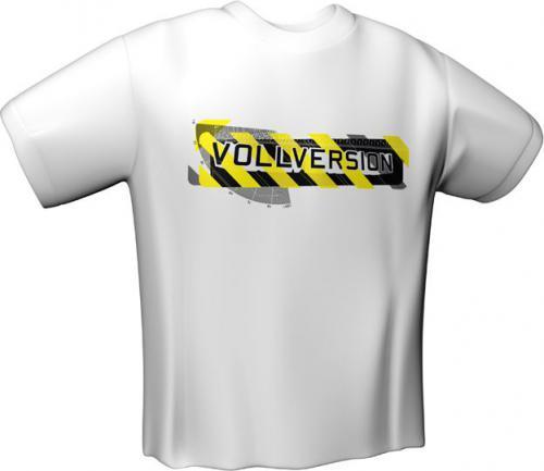 GamersWear VOLLVERSION PCG T-Shirt White (S) (6075-S)