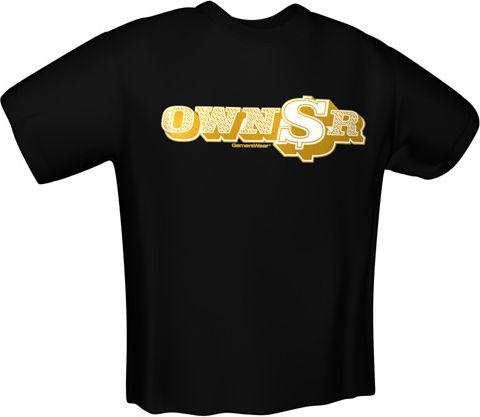 GamersWear OWNER T-Shirt Black (S)  (5927-S)