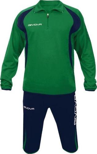 Givova Dres treningowy bluza + spodnie Givova Giove zielono-granatowy 3XS