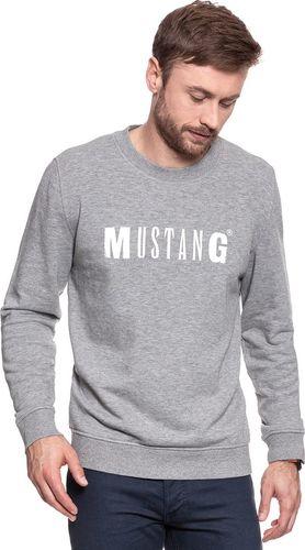 Mustang Bluza męska Logo Sweatshirt Mid Grey Melange r. XXL (1006290 4140)
