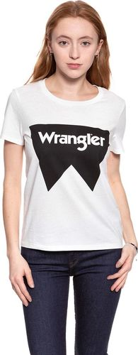 Wrangler Koszulka damska Festival Tee Offwhite r. L (W7016EV02)