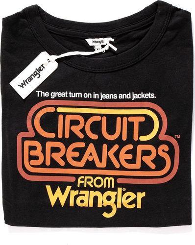 Wrangler Koszulka damska Graphic Ringer Tee Black r. XS (W7373EV01)
