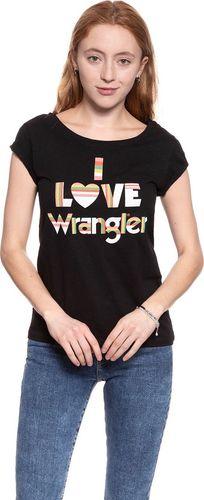 Wrangler Koszulka damska I Love Tee Black r. M (W700LEA01)